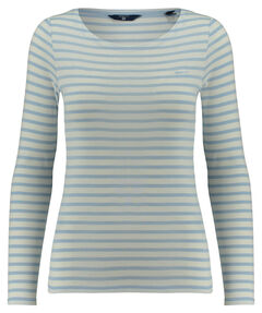 "Damen Shirt ""O1. Striped 1X1 Rib LS T-Shirt"" Langarm"
